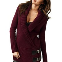 Leather Buckle-wrap Sweater - Victoria's Secret