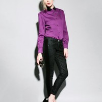 Charcoal side stripe skinny jeans [Dre3012] - $164 : Pixie Market, Fashion-Super-Market
