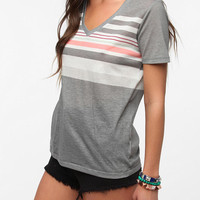 Urban Outfitters - BDG Striped V Neck Tee
