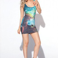 Galaxy Green Dress - Black Milk Clothing