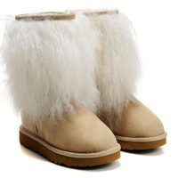 UGG 1875 Sheepskin Cuff Boots II Chestnut Outlet UK