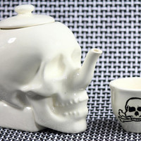 Limited Edition SKULL TEAPOT // Bone White Edition