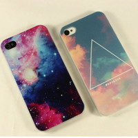Triangle Cloud Sky/Stars Case for iPhone 4 4S