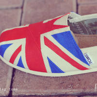 Custom Handpainted Toms, Country Flag Custom Tom Design, England, London any color any style front design only - One Direction Theme Shoes