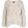 cream stitch pocket jumper - jumpers - jumpers / cardigans - women - River Island