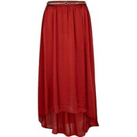 red high hem front maxi skirt - maxi skirts - skirts - women - River Island