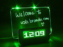 All about USB | USB 3.0, USB Gaming, USB Lifestyle | Brando Workshop : USB 4-Port Hub with Alarm Clock and Erasable Memo Board