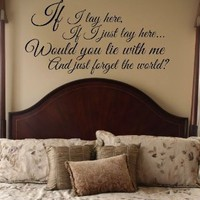 Amazon.com: Snow Patrol Chasing Cars Lyrics Vinyl Wall Decal Sticker Art: Home &amp; Kitchen