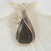 Petite Botswana Agate Necklace