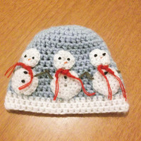 CROCHET PATTERN HAT Snowman All sizes Included by CrochetPatterns1
