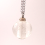 Necklace with Clear Bubbly Glass on a Silver Chain