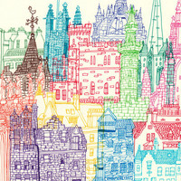 Edinburgh Towers Art Print by Cheism | Society6