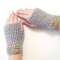 Crochet Fingerless Gloves, Mink Gloves, Adult fingerless gloves, Wrist warmer, Winter gloves, winter gifts