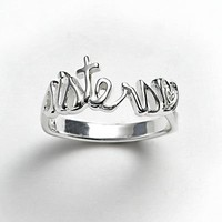 Silver-Plated ''Sisters'' Ring
