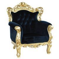 Fabulous &amp; Baroque: Belle de Fleur Chair Black, at 29% off!