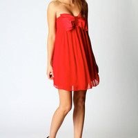 Daneka Bandeau Oversized Bow Dress