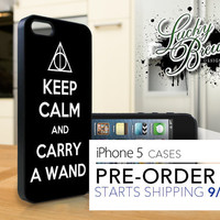 iPhone 5 Hard Case - Harry Potter Keep Calm Carry Wand - Phone Cover IP5