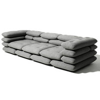 KiBiSi : Brick 3-Seater Gray