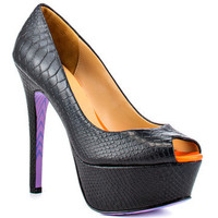 TaylorSays: Monarchie Heels Black Snake, at 26% off!