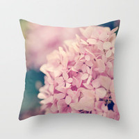 Come Hither, Pink Throw Pillow by Erin Johnson | Society6
