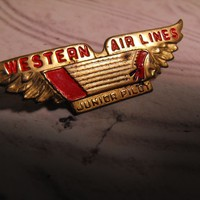 Western Airlines Junior Pilot Wings Pin from giltygirlvintage on Ruby Plaza