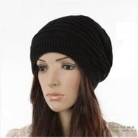 Korea Styke Two-Sided Hat/Neck Warmers 