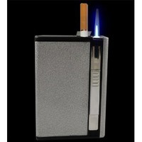 Amazon.com: Auto Loading Cigarette Case With Built in Torch Lighter (For King Size Cigarettes) #CL101: Everything Else