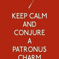 Keep Calm and Conjure a Patronus Charm 5 x 7 by 3LambsGraphics