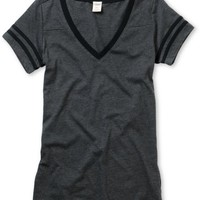Empyre Girl Morel Charcoal & Black Football Tee Shirt at Zumiez : PDP