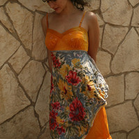 Sunset Garden Slip Dress by rubypearl on Etsy