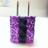 iPhone Charger (customized glitter charger with studs)