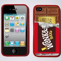 Red Willy Wonka Golden Ticket Chocolate Bar iPhone 4 / 4s Case