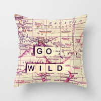 go wild Throw Pillow by Sylvia Cook Photography | Society6