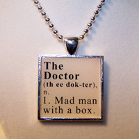 Doctor Who Dictionary Definition Pendant
