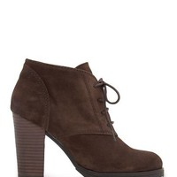 MANGO - SHOES - Boots, Booties - Lace-up suede ankle boots