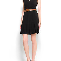 MANGO - CLOTHING - Dresses - Pleated skirt dress