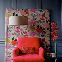 Home / plywood covered in floral fabric