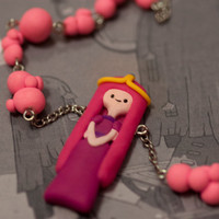 Adventure Time Princess Bubble Gum Bubble Necklace by lizglizz