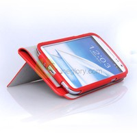 Microfiber Leather Side Flip Case for Galaxy Note 2 N7100