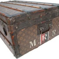One Kings Lane - Nigel Barker - Louis Vuitton Monogram Steamer Trunk