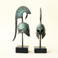 Bronze Helmet with Crest - Ancient Greek Corinthian