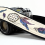 Dream Catcher Camera Strap No. 6, Dreamcatcher, Feathers, Blue, Purple, dSLR or SLR