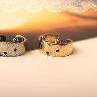 Cute Bear Ring by bunnycloset on Etsy