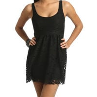 Animal Lace Dress - Teen Clothing by Wet Seal