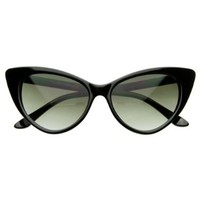 Amazon.com: Super Cateyes Vintage Inspired Fashion Mod Chic High Pointed Cat-Eye Sunglasses: Shoes