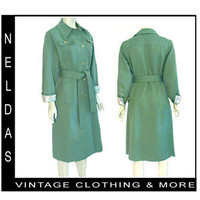 70s Vintage Art Nouveau Lining Coat Forecaster Of Boston Trendy All Weather L