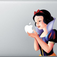Apple Macbook Pro laptop protector princess Snow White decal sticker cover