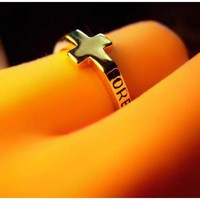 FREE SHIPPING Cross Ring Tail Ring 110506159 from DressLoves