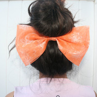 Hair Bow Jumbo Hair Bow Under Bun Bow Accessories by PIYOYO