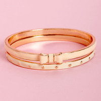 Peaches and Dreams Ivory and Peach Bangle Set